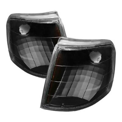 Headlights & Tail Lights - Corner Lights - Spyder - Ford Ranger Spyder Amber Corner Lights - Black - CCL-FR93-AM-BK