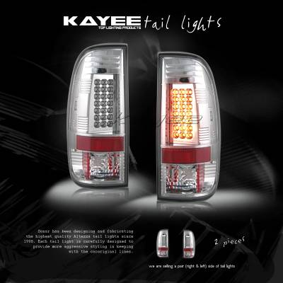 Headlights & Tail Lights - Led Tail Lights - Custom - Clear Chrome LED Taillights