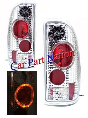 Headlights & Tail Lights - Led Tail Lights - Custom - Chrome Halo LED Taillights