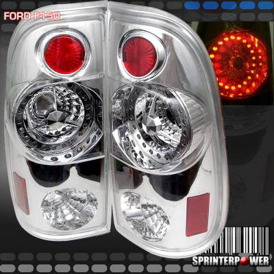 Headlights & Tail Lights - Led Tail Lights - Custom - Chrome LED Taillights