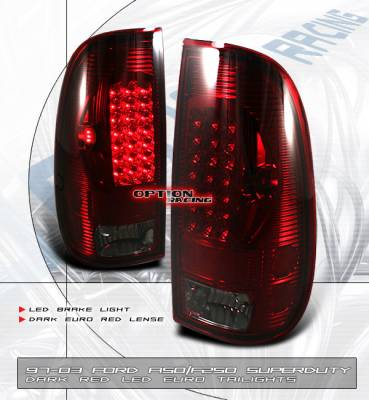 Headlights & Tail Lights - LED Tail Lights - Custom - Euro Red Smoked LED Taillights