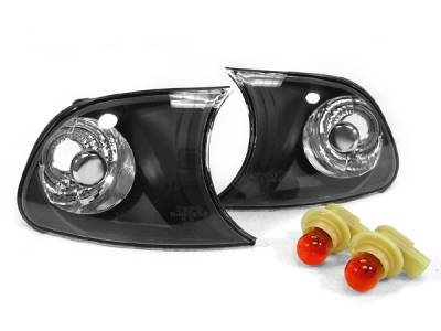 Suvneer - Black E46 Euro Clear Corner Lights - CL-B3-E46-2D-99-C-BLK