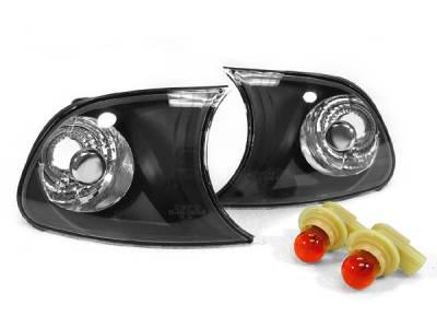 Suvneer - Black E46 Euro Clear Corner Lights - CL-B3-E46-2D-99-C-BLK