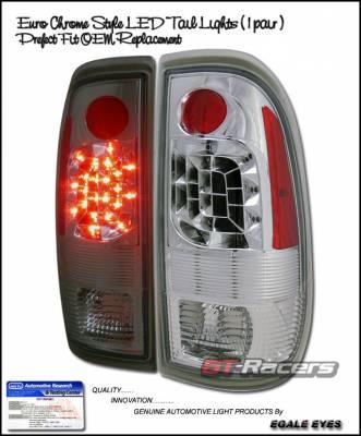 Headlights & Tail Lights - LED Tail Lights - Custom - Euro Chrome LED Taillights