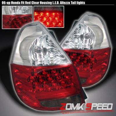 Headlights & Tail Lights - Led Tail Lights - Custom - JDM Red Clear LED Taillights