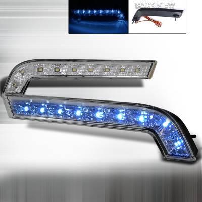 Headlights & Tail Lights - Corner Lights - Spec-D - Ford Mustang Spec-D Daytime Running Light - Clear Lens & White Led - LB-MST10CLED-RS