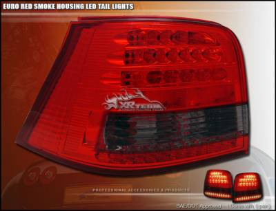 Headlights & Tail Lights - Led Tail Lights - Custom - Euro Red Smoke LED Taillights
