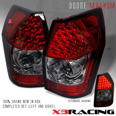 Headlights & Tail Lights - Led Tail Lights - Custom - Red Smoked Lens LED Taillights