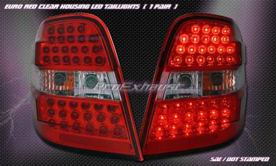 Headlights & Tail Lights - Led Tail Lights - Custom - Red Clear LED Taillights