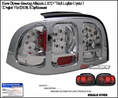 Headlights & Tail Lights - Led Tail Lights - Custom - Chrome Clear LED Taillights