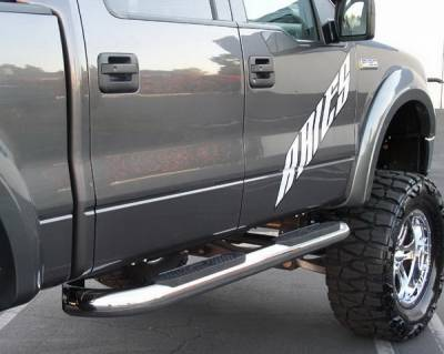 Suv Truck Accessories - Running Boards - Aries - Ford F150 Aries Big Step - Stainless - 4 Inch