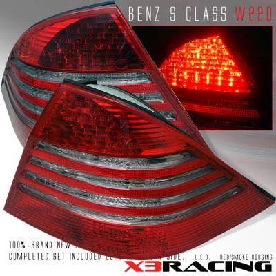 Headlights & Tail Lights - Led Tail Lights - Custom - Smoke Red LED Taillights