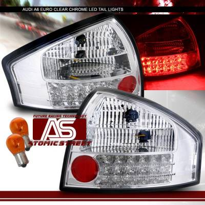 Headlights & Tail Lights - LED Tail Lights - Custom - Chrome Euro Red LED Taillights