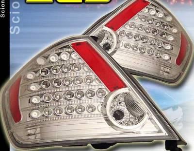 Headlights & Tail Lights - LED Tail Lights - Custom - Chrome Clear LED Taillights