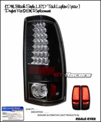 Headlights & Tail Lights - Led Tail Lights - Custom - JDM Black LED Taillights