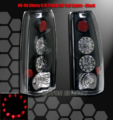 Headlights & Tail Lights - Led Tail Lights - Custom - Black LED Taillights