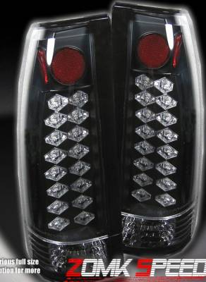 Headlights & Tail Lights - Led Tail Lights - Custom - Black LED Altezza Taillights