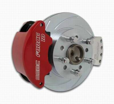 Brakes - Custom Brake Kits - SSBC - SSBC Disc Brake Conversion Kit for GM 10 & 12 Bolt Rear Ends with Non-Staggered Shocks & C-Clip or Non C-Clip Axles - Rear - A125-14