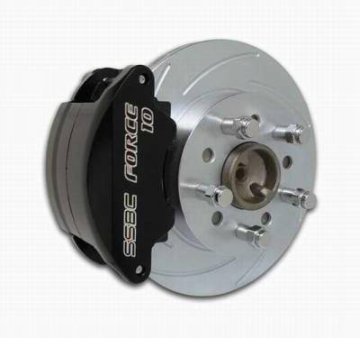 Brakes - Custom Brake Kits - SSBC - SSBC Disc Brake Conversion Kit for GM 10 & 12 Bolt Rear Ends with Staggered or Non-Staggered Shocks & C-Clip or Non C-Clip Axles - Rear - A125-15
