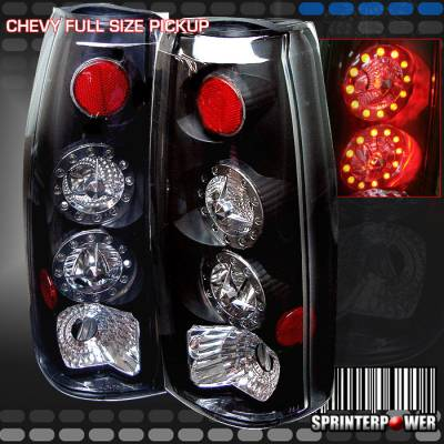 Headlights & Tail Lights - Led Tail Lights - Custom - Black Twin LED Taillights