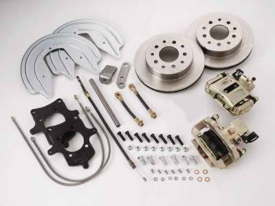 Brakes - Custom Brake Kits - SSBC - SSBC Disc Brake Conversion Kit for GM 10 & 12 Bolt Rear Ends with Staggered Shocks & Non C-Clip Axles - Rear - A125-F
