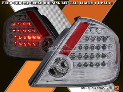 Headlights & Tail Lights - Led Tail Lights - Custom - Euro Chrome LED Taillights