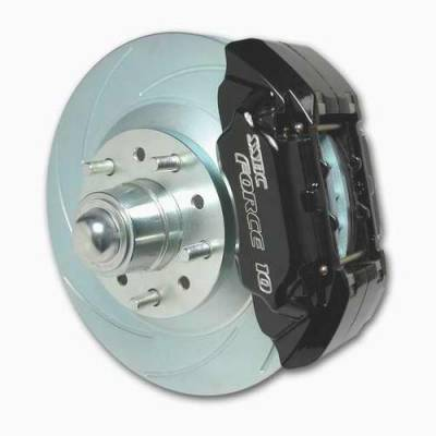 Brakes - Custom Brake Kits - SSBC - SSBC Drum to Disc Brake Conversion Kit with Force 10 Extreme 4-Piston Aluminum Calipers - 13 Inch Rotors & 2 Inch Drop Spindles - Front - A126-34