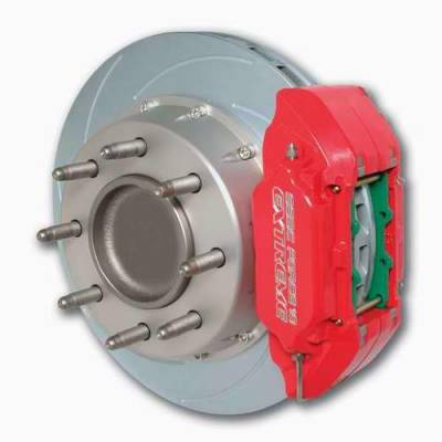 Brakes - Custom Brake Kits - SSBC - SSBC Disc Brake Kit with Force 10 Extreme 4-Piston Aluminum Calipers & 14 Inch Rotors - Front - A126-35