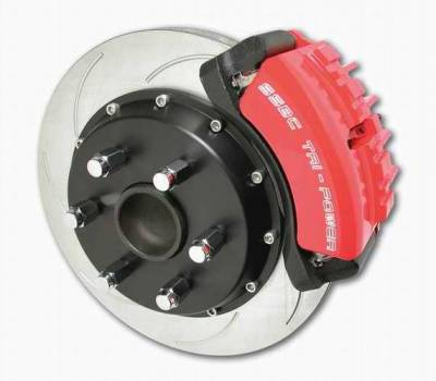 Brakes - Custom Brake Kits - SSBC - SSBC Disc to Disc Upgrade Kit with Force 10 Tri-Power 3-Piston Aluminum Calipers & 14 Inch Rotors - Front - A126-37