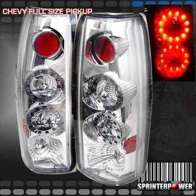 Headlights & Tail Lights - Led Tail Lights - Custom - Chrome Twin LED Taillights