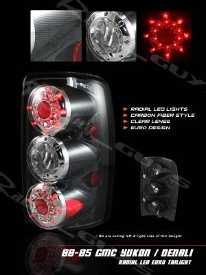 Headlights & Tail Lights - Led Tail Lights - Custom - Euro Carbon LED Taillights