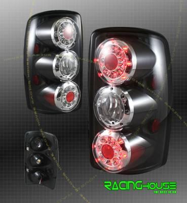 Headlights & Tail Lights - Led Tail Lights - Custom - Euro Black LED Taillights