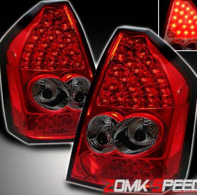 Headlights & Tail Lights - Led Tail Lights - Custom - Red Smoke LED Taillights
