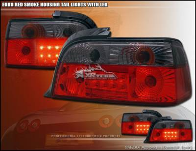 Headlights & Tail Lights - Tail Lights - Custom - BMW E36 2D SMOKE LED TAILLIGHTS