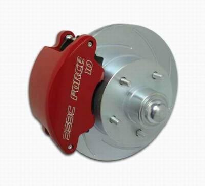 Brakes - Custom Brake Kits - SSBC - SSBC Non-Power Drum To Disc Brake Conversion Kit with Force 10 Extreme 4 Piston Aluminum Calipers - Front - A137-1A