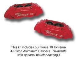 Brakes - Custom Brake Kits - SSBC - SSBC Non-Power Drum to Disc Brake Conversion Kit with Force 10 Extreme 4-Piston Aluminum Calipers & 12 Inch Rotors - Front - A137-2