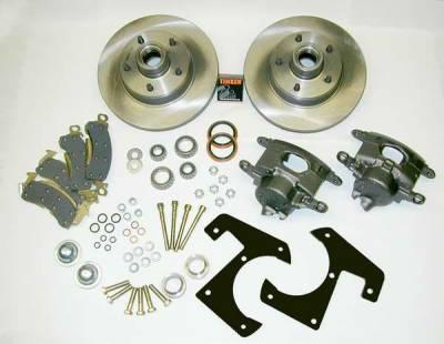 Brakes - Custom Brake Kits - SSBC - SSBC Drum to Disc Brake Conversion Kit with Single-Piston Cast Iron Calipers with 72mm Piston - Front - A148-15
