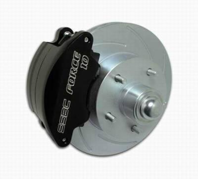 Brakes - Custom Brake Kits - SSBC - SSBC Drum to Disc Brake Conversion Kit with Force 10 Super-Twin 2-Piston Aluminum Calipers - Front - A148-15A