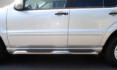 Suv Truck Accessories - Running Boards - Aries - Mercedes-Benz ML Aries Sidebars - 3 Inch