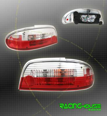 Headlights & Tail Lights - Tail Lights - Custom - JDM Red Clear Taillights
