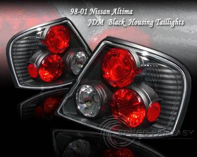 Headlights & Tail Lights - Tail Lights - Custom - JDM Black Housing Taillights