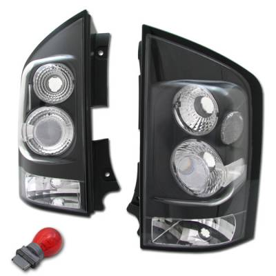Headlights & Tail Lights - Tail Lights - Custom - JDM Black Clear Taillights