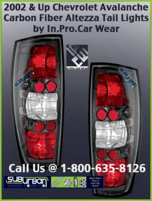 Headlights & Tail Lights - Tail Lights - Custom - Altezza Carbon Fiber Taillights