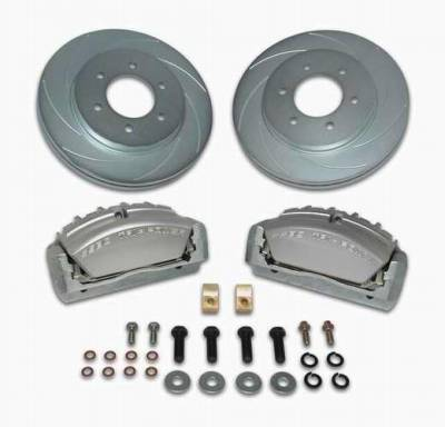 Brakes - Custom Brake Kits - SSBC - SSBC Disc to Disc Upgrade Kit with Force 10 Tri-Power 3-Piston Aluminum Calipers & Stock Size Rotors for 6-Lug Vehicles - Front - A165-3