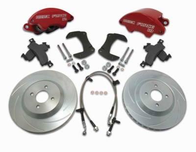 Brakes - Custom Brake Kits - SSBC - SSBC Disc Brake Kit with Force 10 Super-Twin 2-Piston Aluminum Calipers & 13 Inch Rotors - Front - A166-17