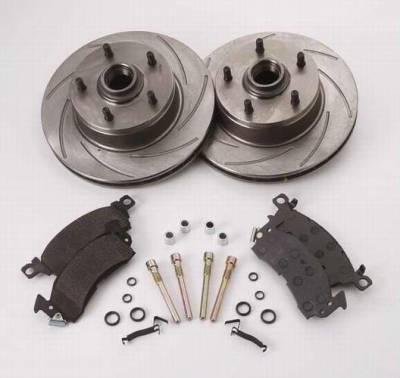 Brakes - Custom Brake Kits - SSBC - SSBC Turbo Slotted Rotors with Xtra Life Plating & Pads  - Rear - A2350004R