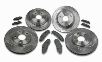 Brakes - Custom Brake Kits - SSBC - SSBC Turbo Slotted Rotors & Pads - Front & Rear - A2350005