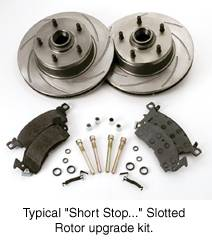 Brakes - Custom Brake Kits - SSBC - SSBC Turbo Slotted Rotors & Pads  - Rear - A2350008R