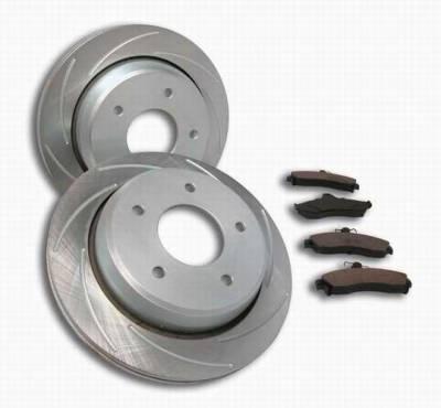 Brakes - Custom Brake Kits - SSBC - SSBC Turbo Slotted Rotors & Pads - Rear - A2350009R