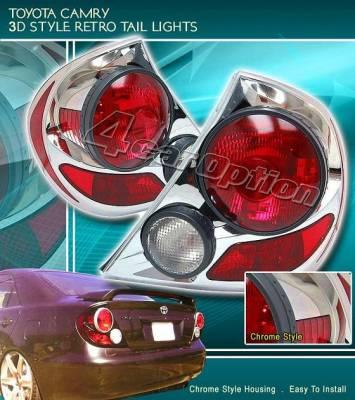 Headlights & Tail Lights - Tail Lights - Custom - Retro Chrome Taillights